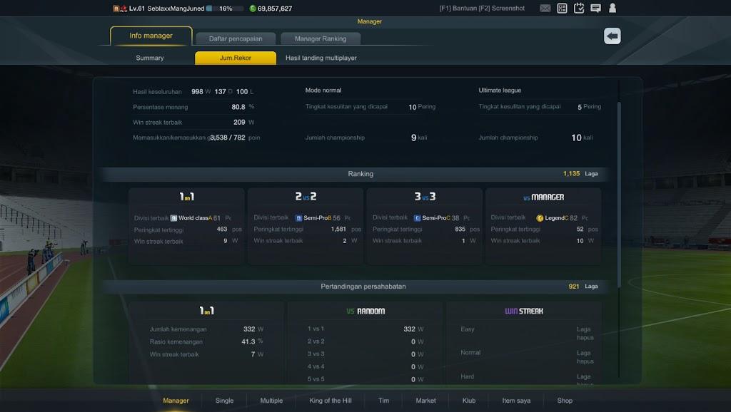 Info rekor winstreak fifa online 3