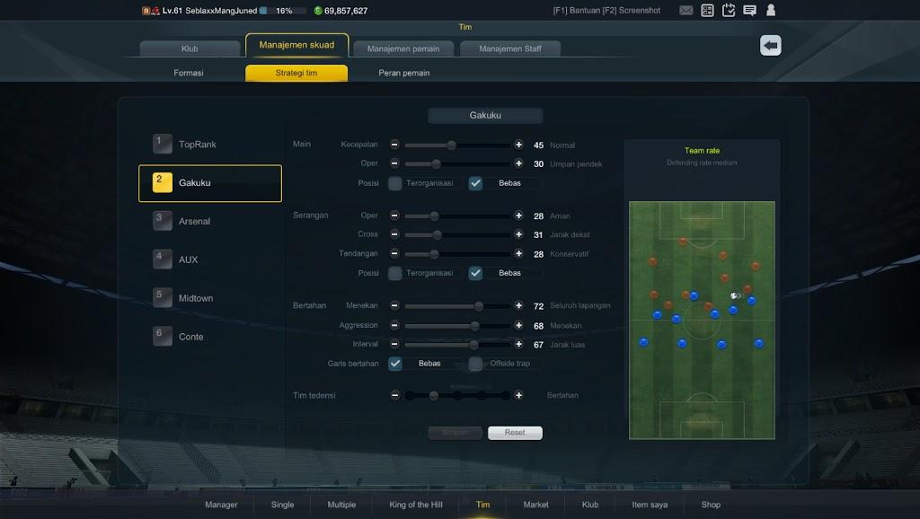 Cara setting strategi fifa online 3
