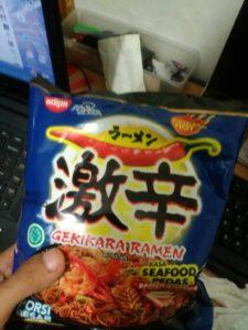 Nissin ramen gekikara seafood