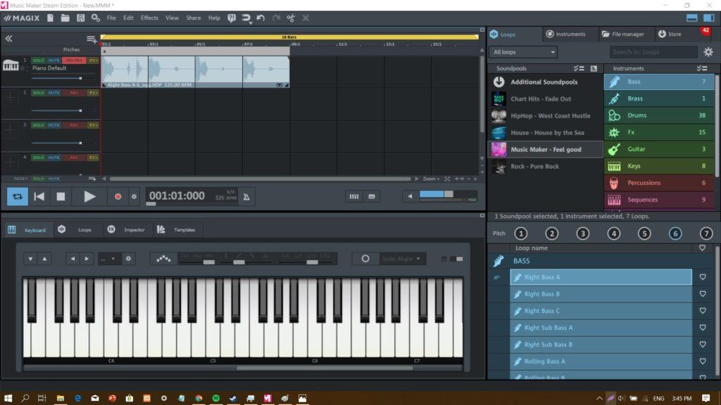 cara membuat musik edm di software music maker