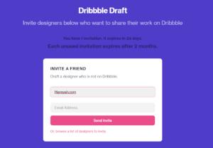 giveaway dribbble invitation