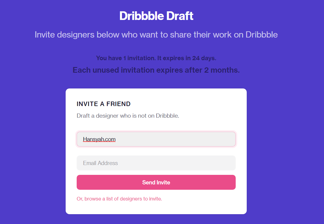 #GIVEAWAY 1 Dribbble Invitation by Hansyah.com - Edisi ke 2