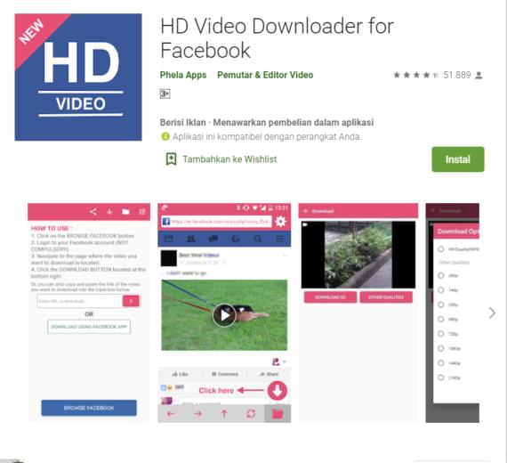 cara download vidio di facebook HD gratis