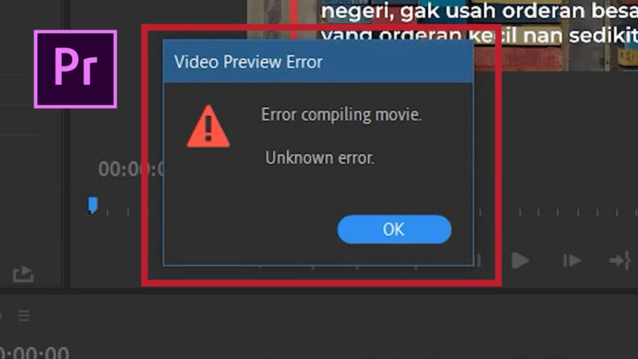error compiling movie