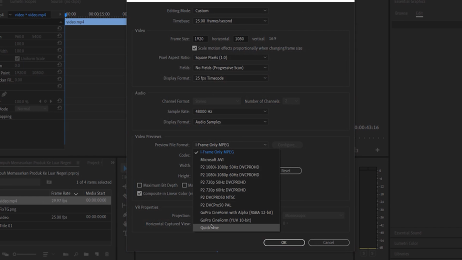penyebab error compiling movie adobe premiere pro